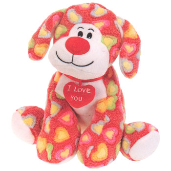 Valentine Dog Plush Toys