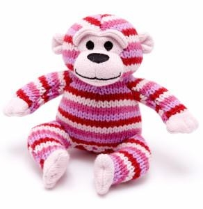 Knitted -Monkey- in Pink Color