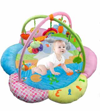 Baby Play Gym And  Mat Activity Toy And Floor Soft Foam Toddler Child Melodies Time