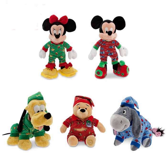 Disney Mickey Mouse In Sleepwear for Christmas Plush Toys
